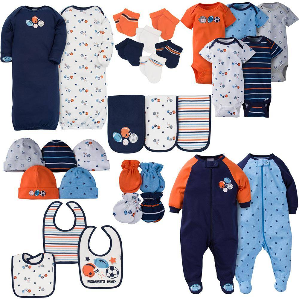 Gerber 30-Piece Boys Sports Gift Set - 0-3M