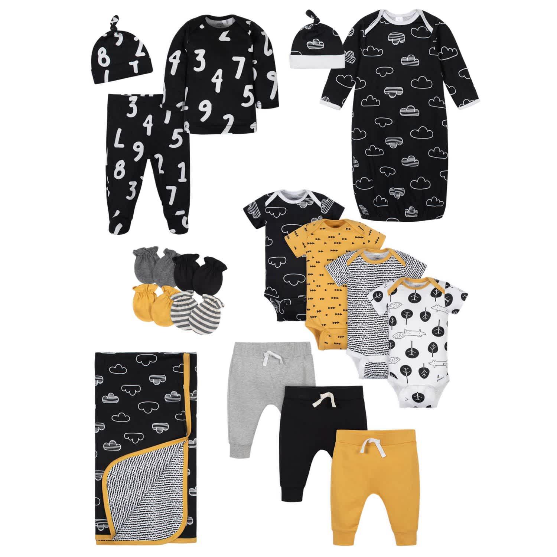 Gerber 17-Piece Baby Boys' Nature Gift Set - NEWBORN