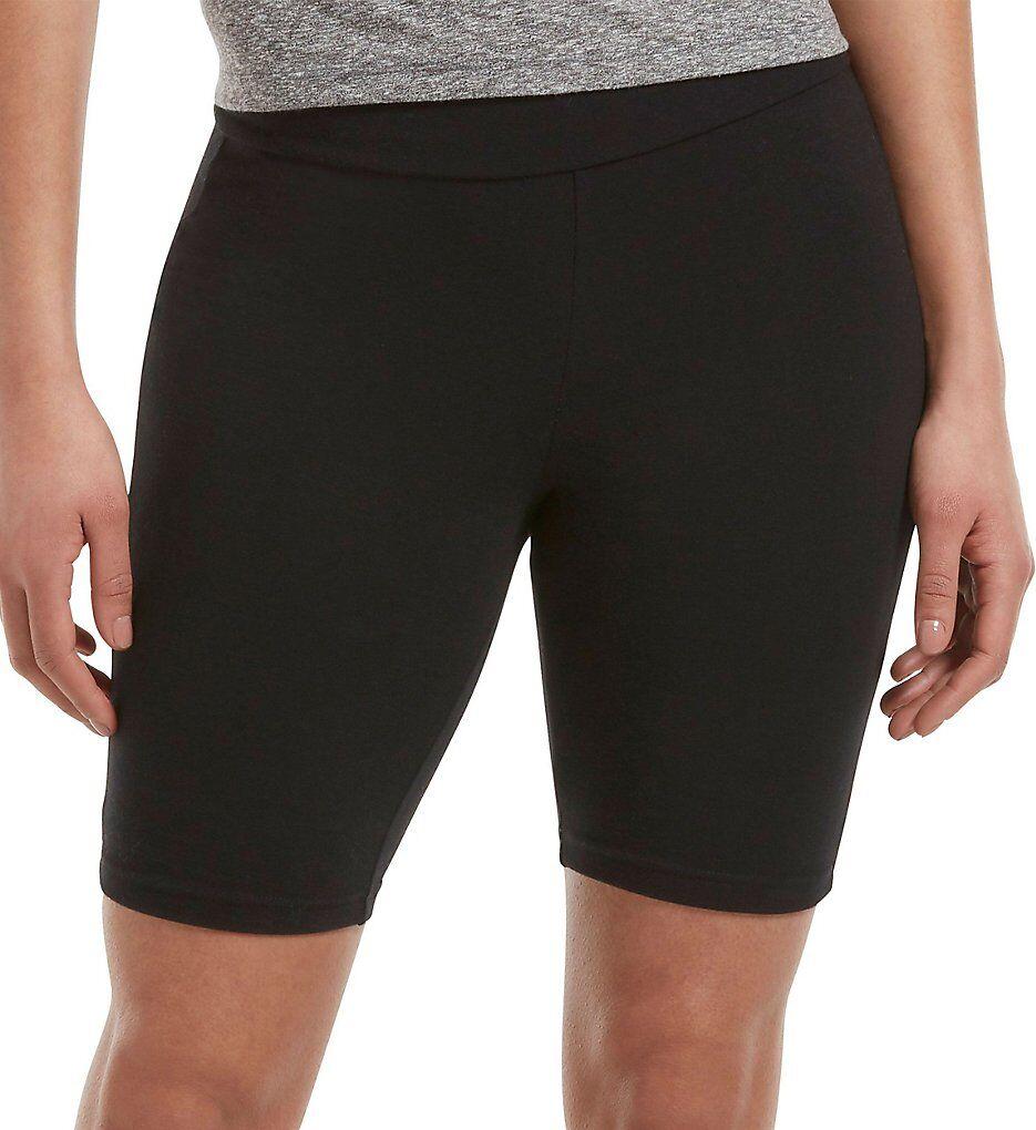 Hue 20627 Cotton High Waist Bike Shorts (Black L)