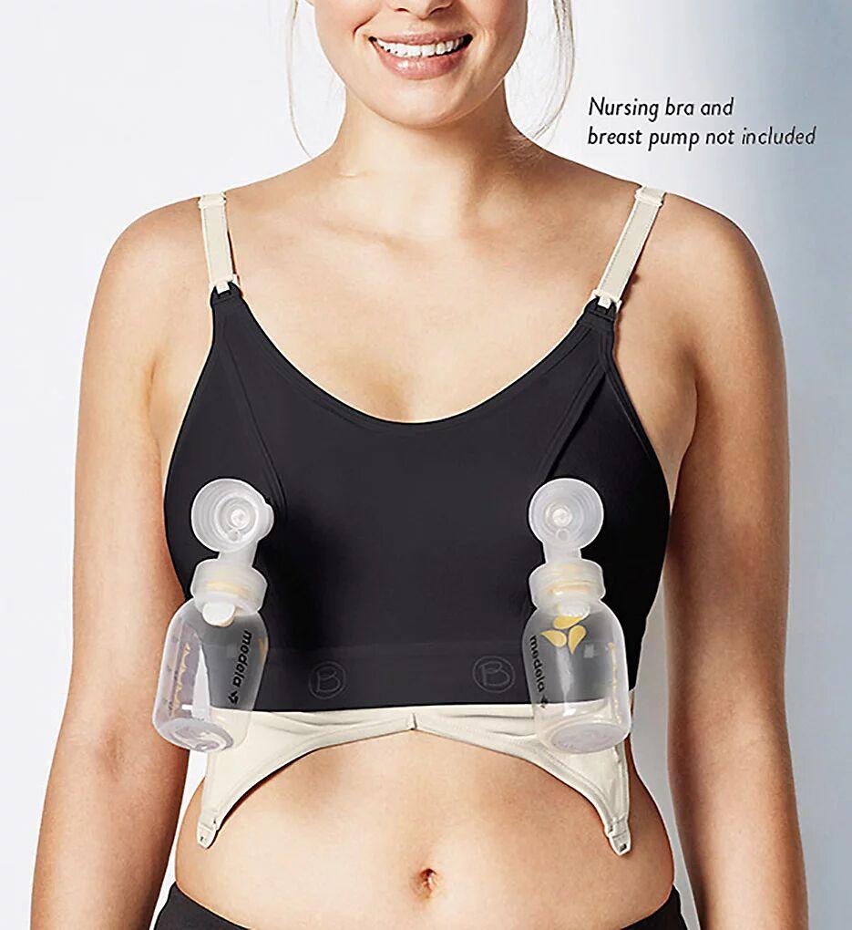 Bravado Designs 9301 Clip and Pump Hands Free Nursing Bra Accessory (Black M)