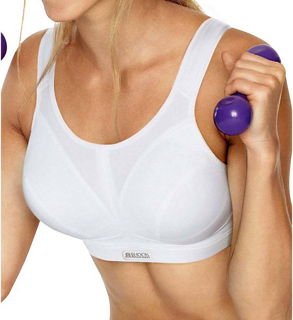 Shock Absorber SN109 Active D+ Max Support Sports Bra (New White 40E)