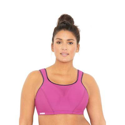 Glamorise Plus Size Women's Camisole Wire Sport Bra by Glamorise in Rose (Size 46 F)