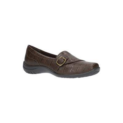Easy Street Women's Cinnamon Slip On by Easy Street in Brown Croco (Size 9 M)
