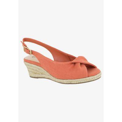 Bella Vita Women's Sylvie II Espadrille Shoes by Bella Vita in Melon Linen (Size 12 M)