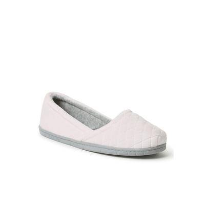 Dearfoams Women's Katie Microfiber Velour Espadrille Shoes by Dearfoams in Fresh Pink (Size MEDIUM)