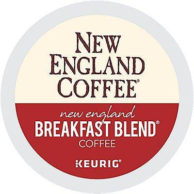 New England Coffee 72 Ct New England Coffee New England Breakfast Blend Coffee 72-Count (3 Boxes Of 24) K-Cup Pods. Coffee