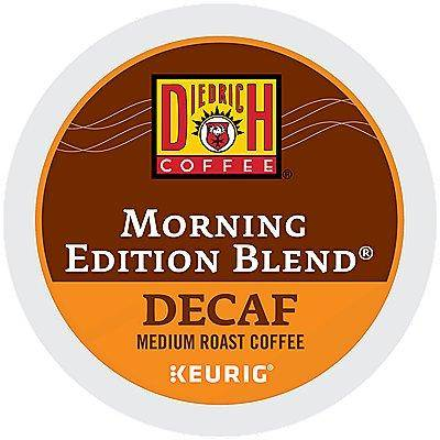 Diedrich 72 Ct Diedrich Morning Edition Blend Decaf Coffee 72-Count (3 Boxes Of 24) K-Cup Pods. Coffee