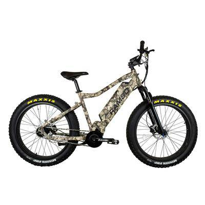 Rambo Bikes Bushwacker 750W Xtreme Performance Electric Bike True Timber Viper Western Camo