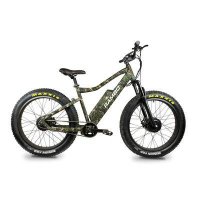 Rambo Bikes Krusader 500W All Wheel Drive Electric Bike True Timber Woodland Camo