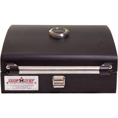 "Camp Chef ""Camp Chef Deluxe BBQ Grill Box Stove Accessory 14""""x16"""" Steel Black"""