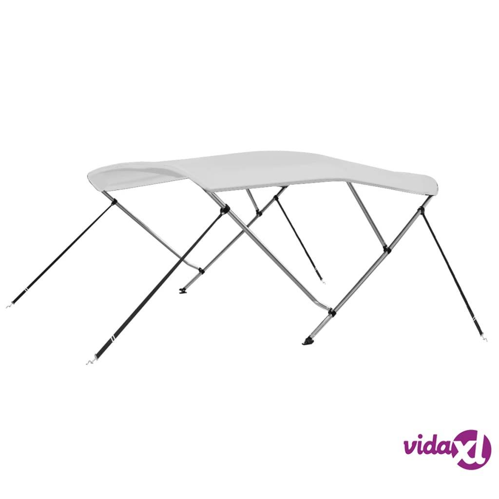 vidaXL 3 Bow Bimini Top White 6'x5.2'x4.6'  - White
