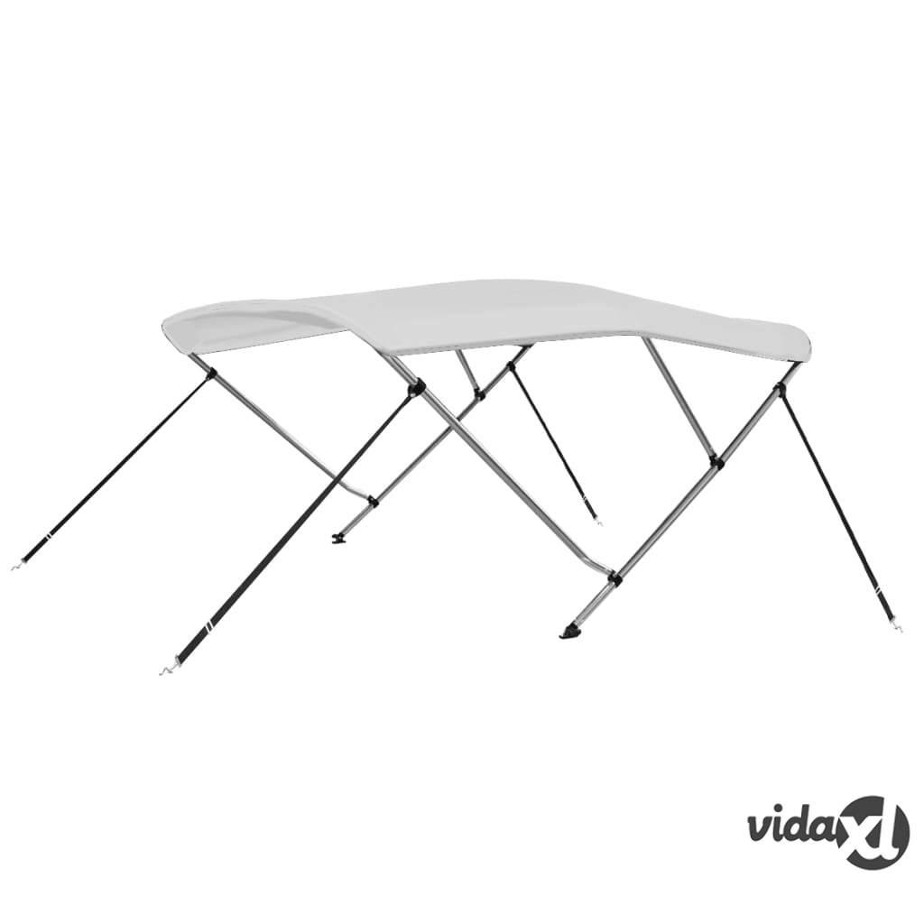 vidaXL 3 Bow Bimini Top White 6'x6.4'x4.6'  - White