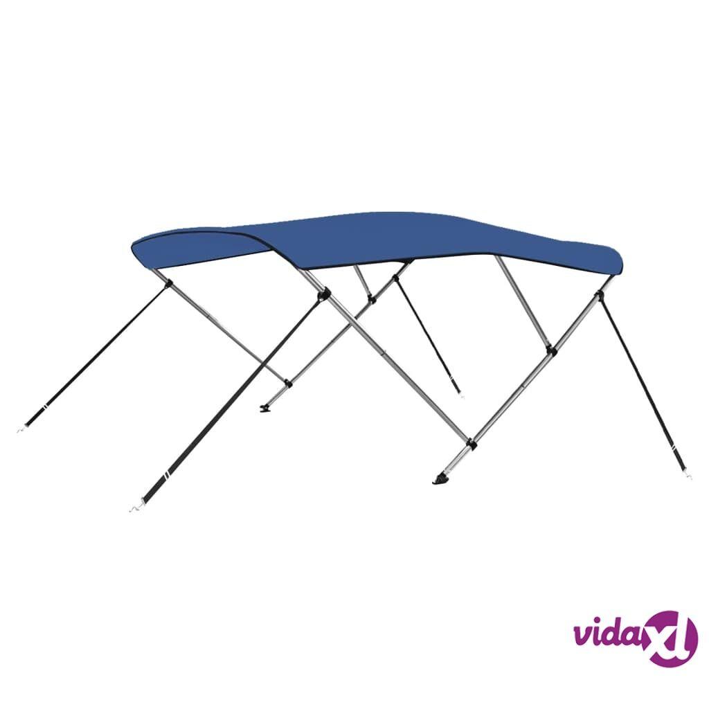vidaXL 3 Bow Bimini Top Blue 6'x5.2'x4.6'  - Blue