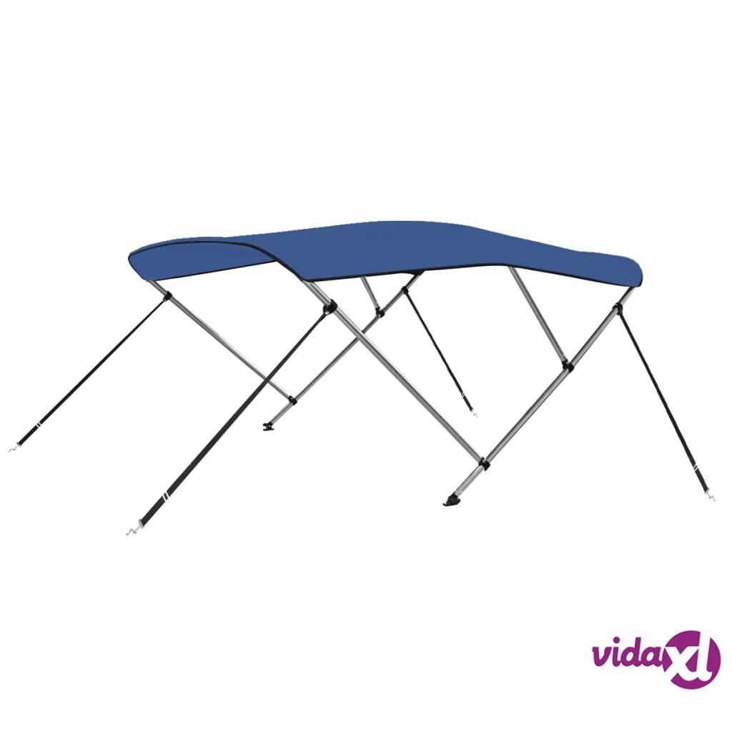 vidaXL 3 Bow Bimini Top Blue 6'x5.9'x4.6'  - Blue