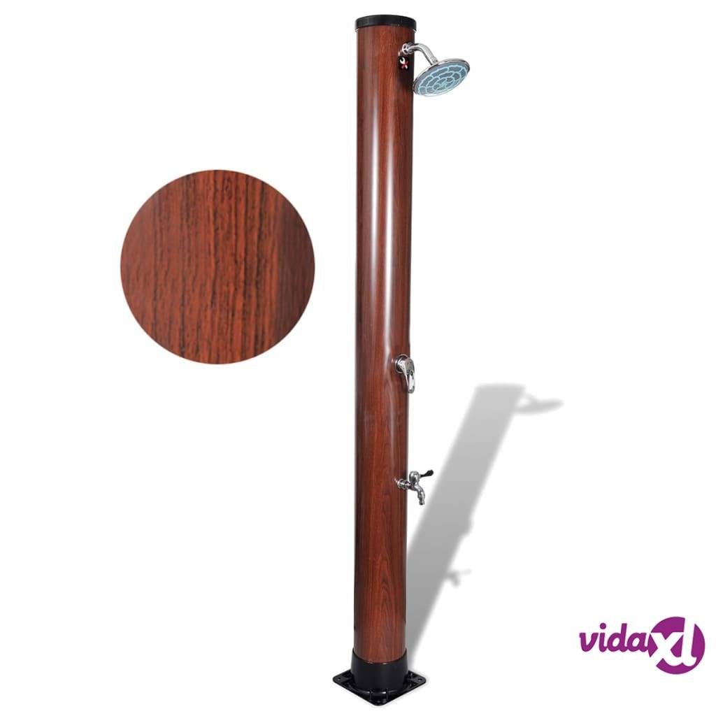 vidaXL 7 ft Pool Solar Shower with Faux Wood Finish  - Brown