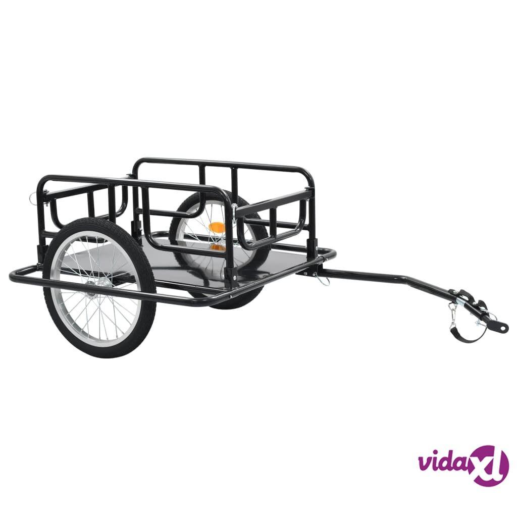 "vidaXL Bike Cargo Trailer 51.2""x28.7""x19.7"" Steel Black  - Black"