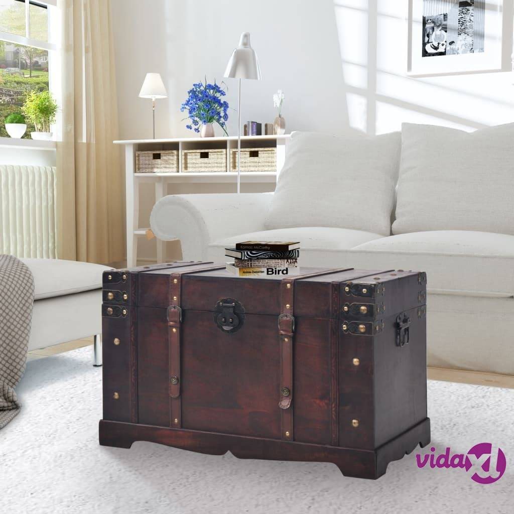 "vidaXL Vintage Treasure Chest Wood 26""x15""x15.7""  - Brown"