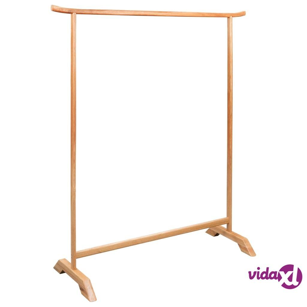 """vidaXL Clothes Rack 49.2""""x59"""" Solid Oak Wood  - Brown"""