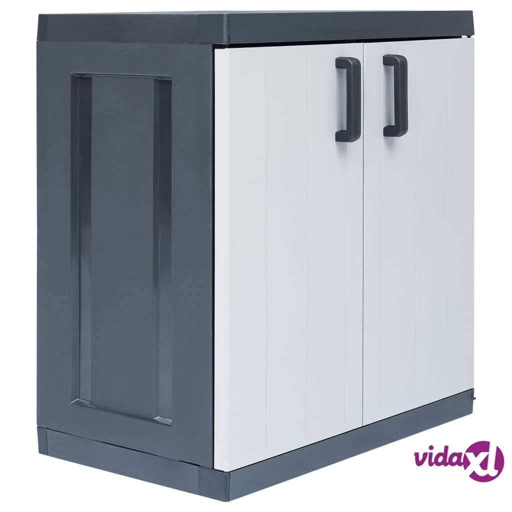 "vidaXL Garden Storage Cabinet XXL 35""x21.3""x37.8"" Plastic  - Grey"