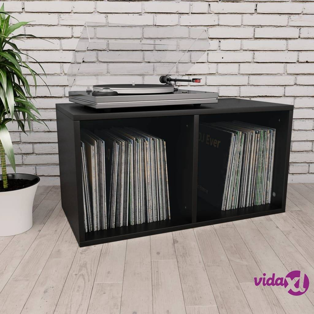 "vidaXL Vinyl Storage Box Black 28""x13.4""x14.2"" Chipboard  - Black"
