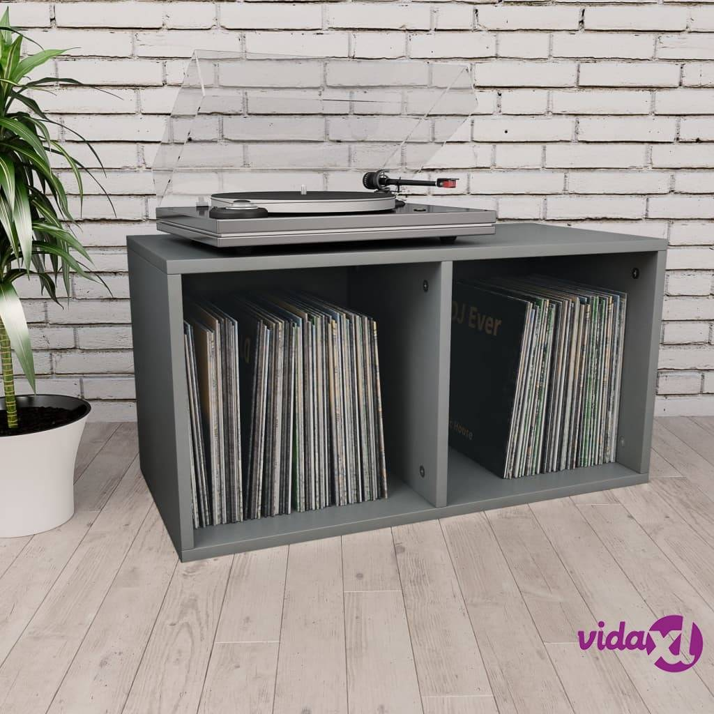 """vidaXL Vinyl Storage Box Gray 28""""x13.4""""x14.2"""" Chipboard  - Grey"""
