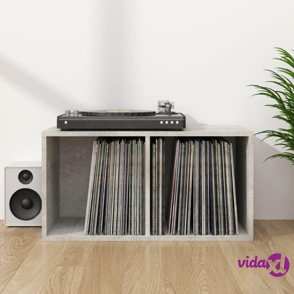 "vidaXL Vinyl Storage Box Concrete Gray 28""x13.4""x14.2"" Chipboard  - Grey"