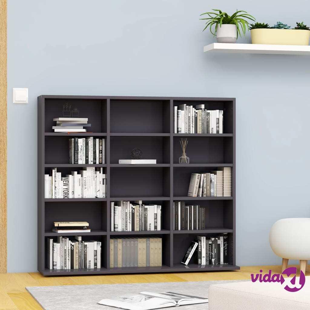 """vidaXL CD Cabinet Gray 40.6""""x9""""x35.2"""" Chipboard  - Grey"""