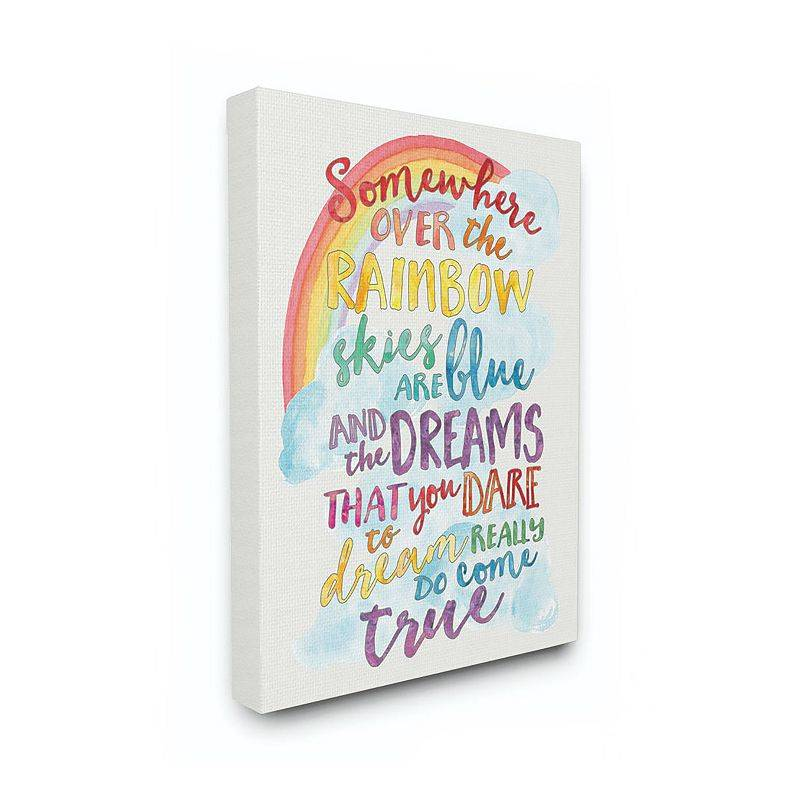 Stupell Home Decor Rainbow Canvas Wall Art, 16X20