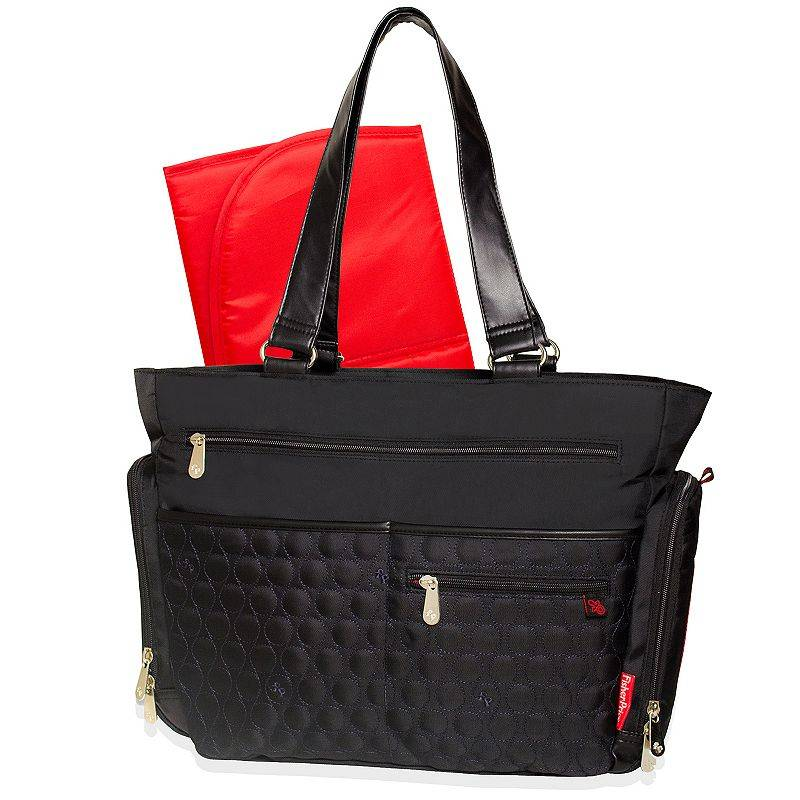 Fisher-Price Circle Quilted Diaper Tote, Black