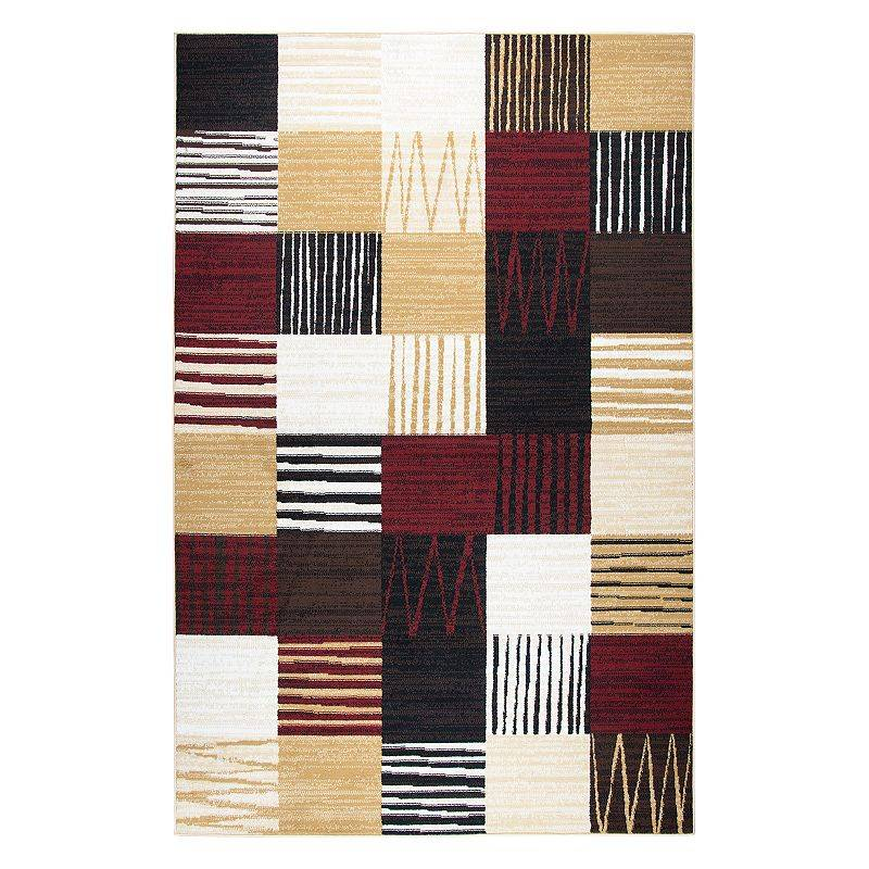 Rizzy Home Xcite Transitional Patchwork II Geometric Rug, Black, 8X10 Ft