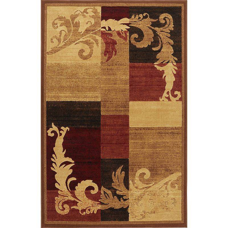 Home Dynamix Catalina Pierre Area Rug, Brown, 5X7 Ft
