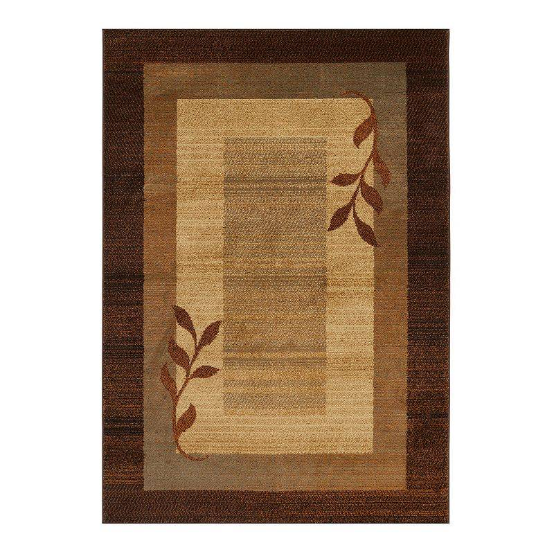 Home Dynamix Royalty Clover Area Rug, Brown, 8X10.5 Ft