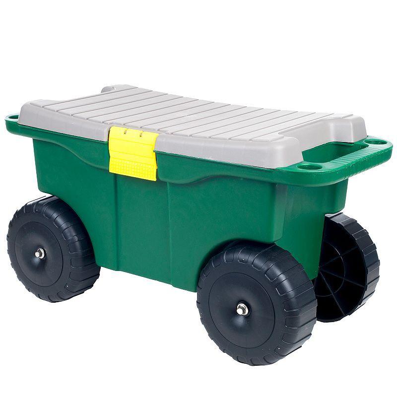 Pure Garden Indoor / Outdoor Storage Cart, Green