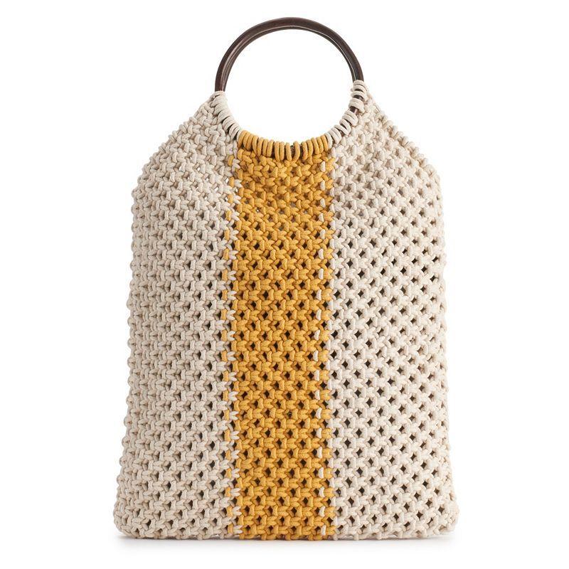 Fantasia Accessories Veronica Macrame Handbag, Brown