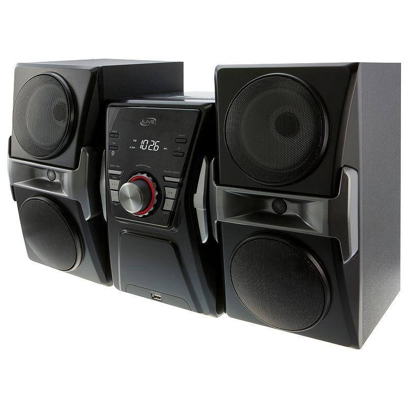 iLive Bluetooth CD Radio Home Music System, Black