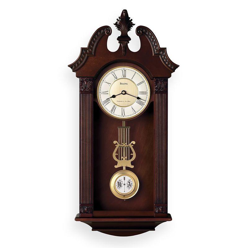 Bulova Ridgedale Wood Musical Wall Clock - C4437, Brown