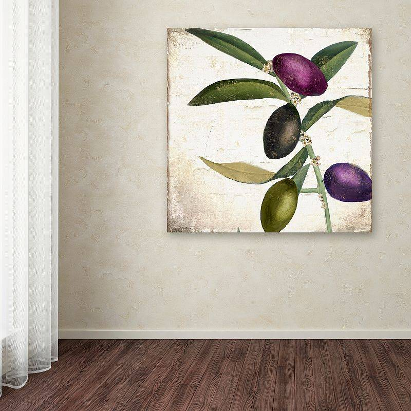 Trademark Fine Art Olive Branch II Canvas Wall Art, Green, 35X35