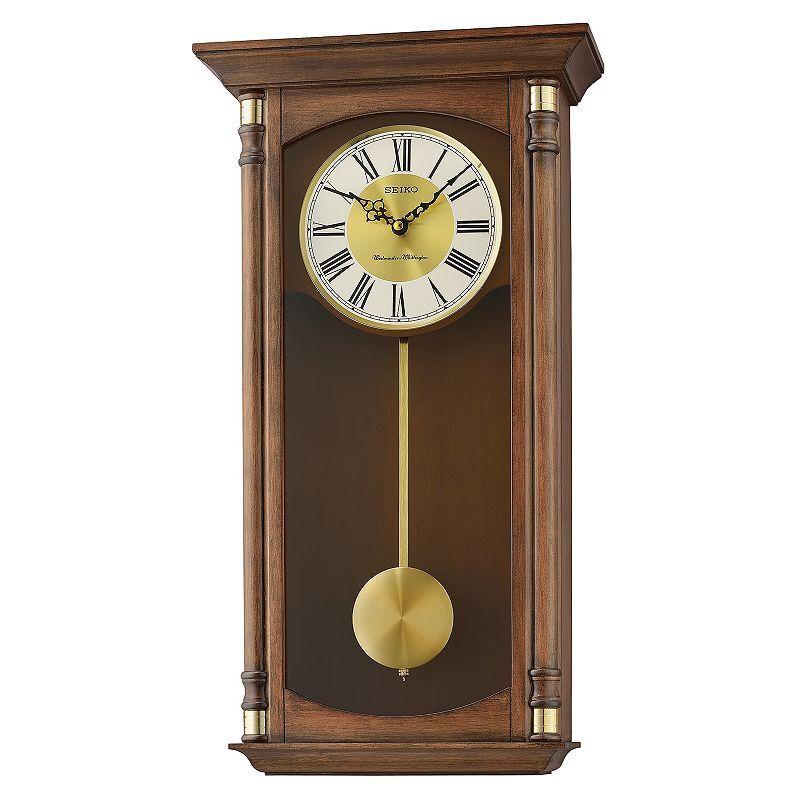 Seiko Traditional Classics Pendulum Wall Clock - QXH069BLH, Med Brown