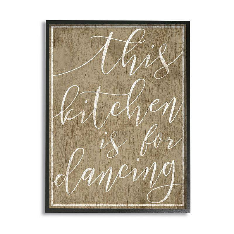 Stupell Home Decor Kitchen Is For Dancing Framed Wall Art, 24X30