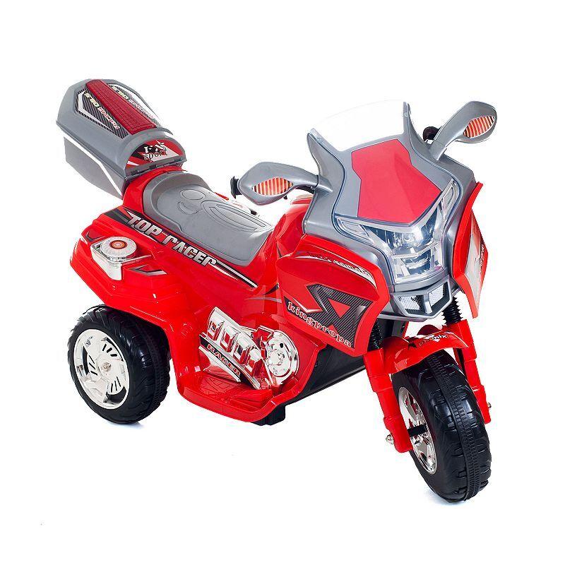 Lavish Home Lil' Rider Top Racer Ride-On Sport Bike, Red