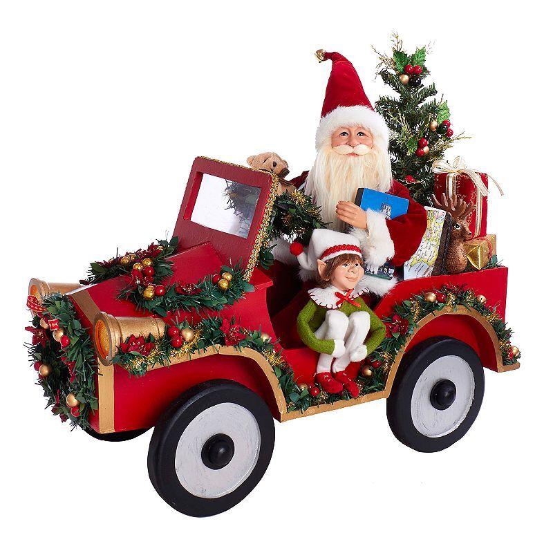 Kurt Adler Santa & Car Christmas Decor