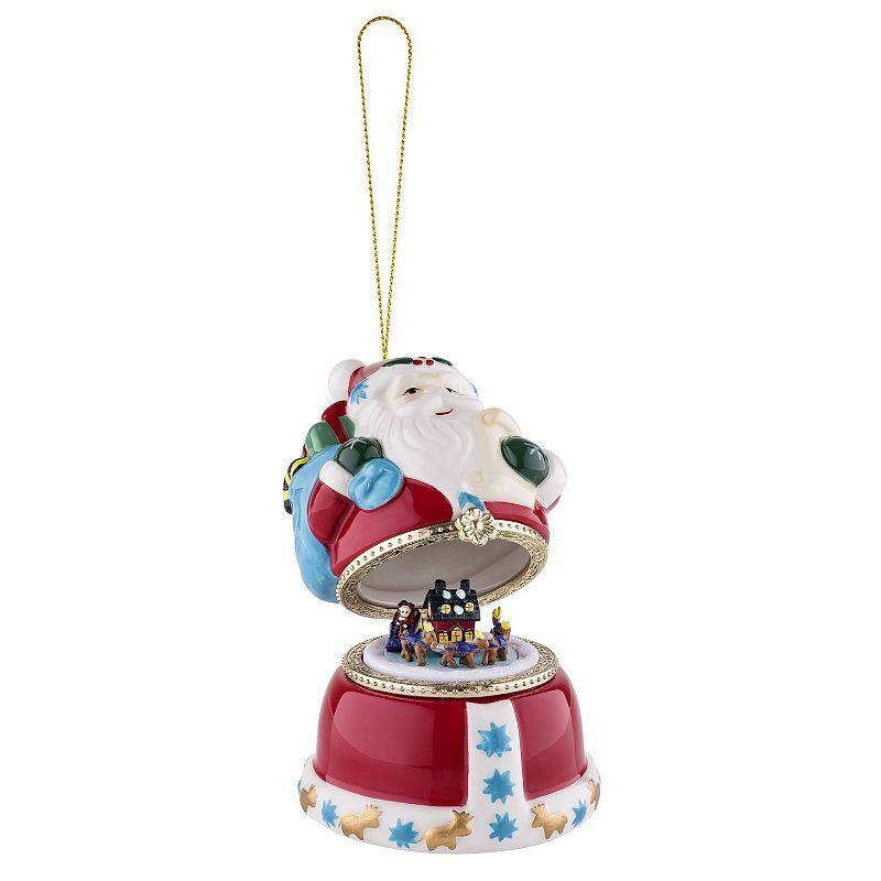 Mr Christmas Music Box Santa Ornament