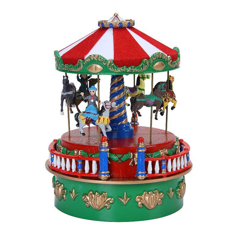 Mr Christmas Mini Carnival Music Carousel Table Decor