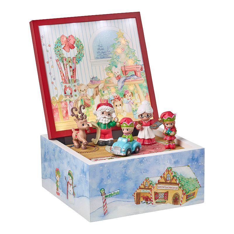 Precious Moments LED 6-Piece Santa's Workshop Heirloom Music Box Set
