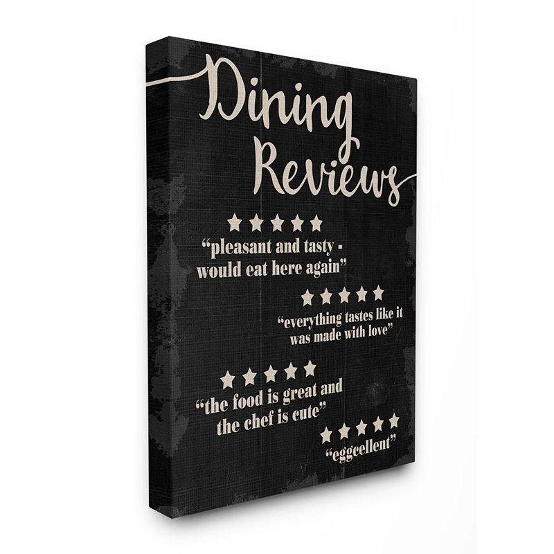Stupell Home Decor Dining Reviews Five Star Kitchen Black Canvas Wall Art, 24X30