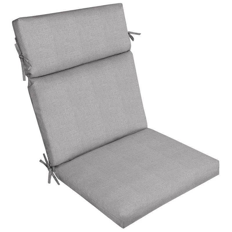 Arden Selections Woven Outdoor Dining Chair Cushion, Grey, 44X21