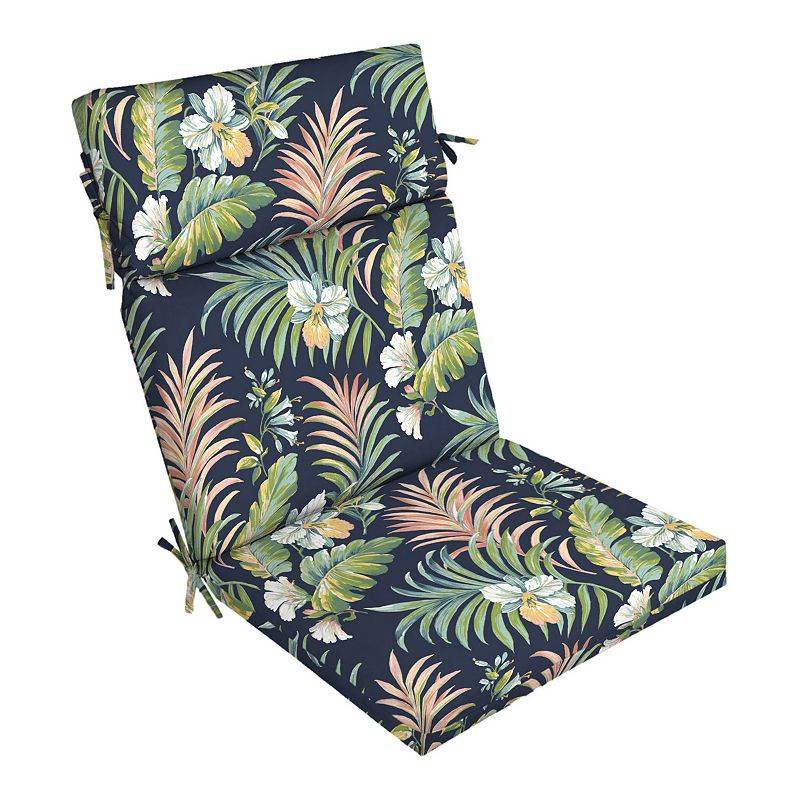 Arden Selections Outdoor Dining Chair Cushion, Blue, 44X21