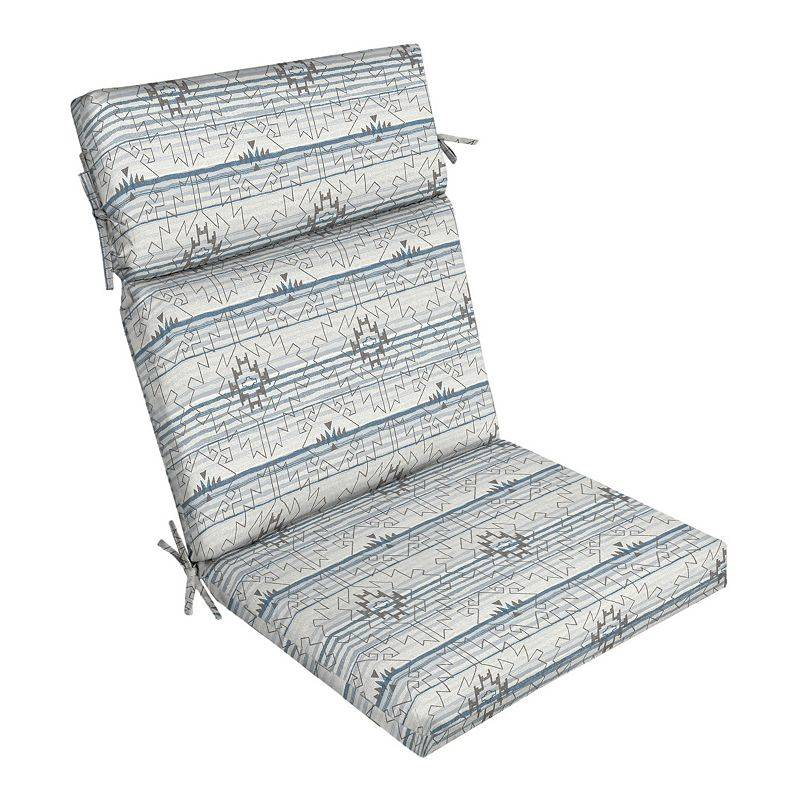 Arden Selections Outdoor Dining Chair Cushion, Grey, 44X21