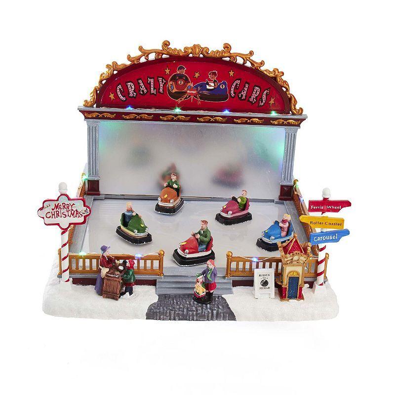 Kurt Adler Musical Bumper Cars LED Christmas Table Decor