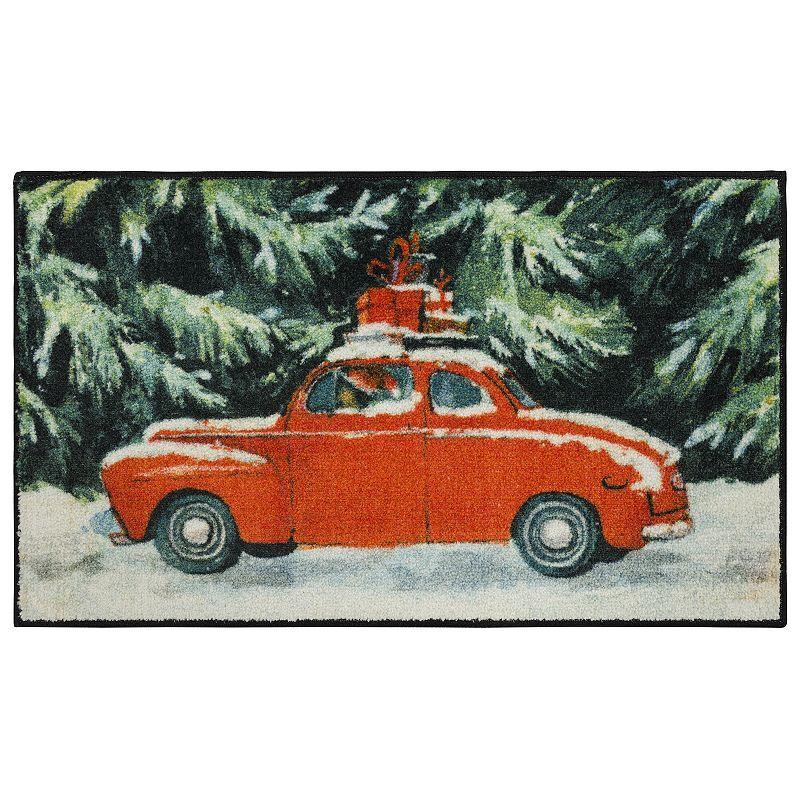 Mohawk Home Vintage Christmas Car Rug, 30X50